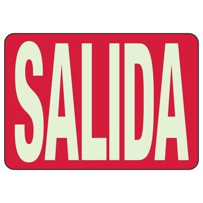 Glow In The Dark Salida Sign