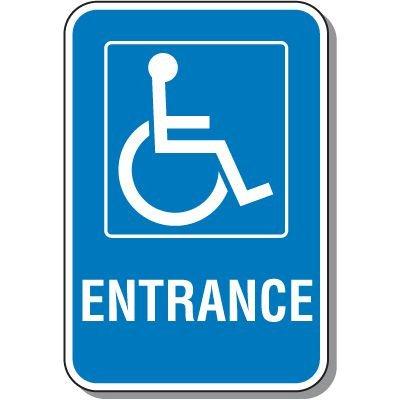 Handicap Entrance Sign