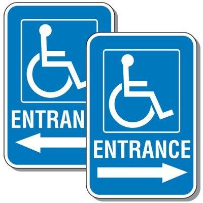 Handicapped Entrance Sign