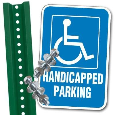 Handicap Parking Sign and Post Kit