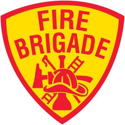 Safety Training Labels - Fire Brigade