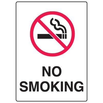 No Smoking Fiberglass Sign