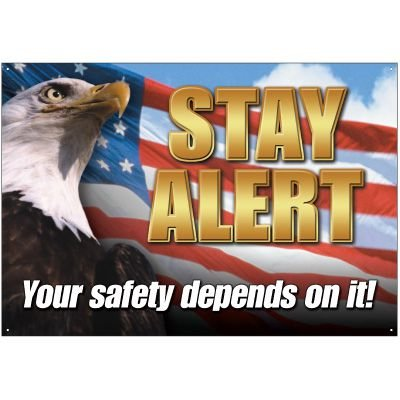 Homeland Security Stay Alert Wallchart