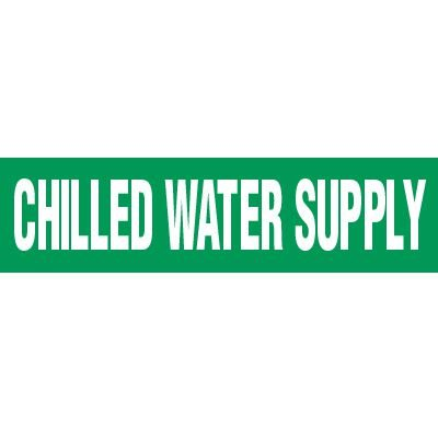 Chilled Water Supply Pipe Markers