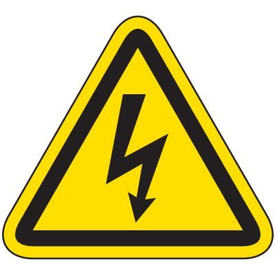 International Symbol Labels - Electrical Hazard