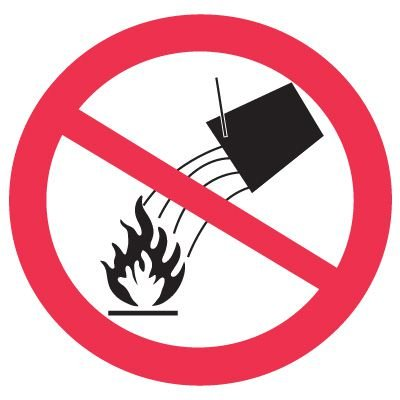 ISO Prohibition Labels - Do Not Extinguish with Water