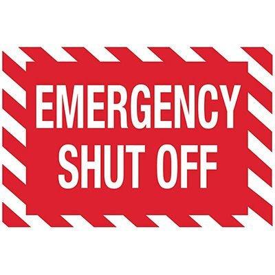 Emergency Shutoff Sign