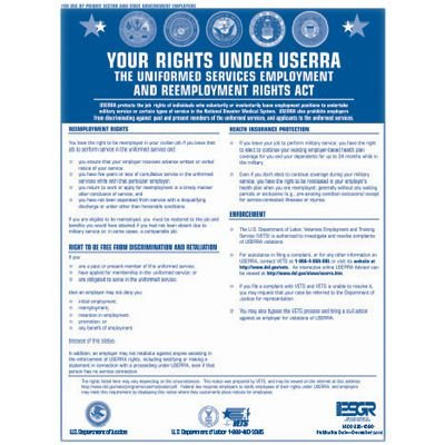 USERRA Benefits Labor Law Poster