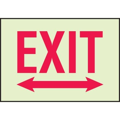 Luminous Double Arrow Exit Sign