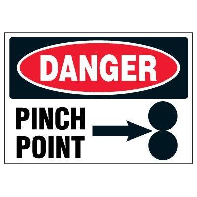 Machine Hazard Warning Markers - Danger Pinch Point