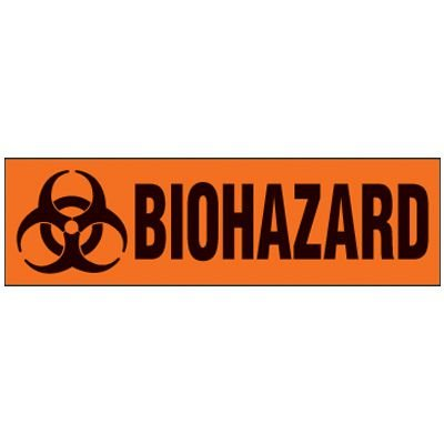 Biohazard Magnetic Storage Cabinet Label