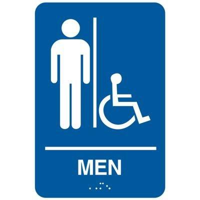 Men (Accessibility) - California Code Economy Restroom Signs