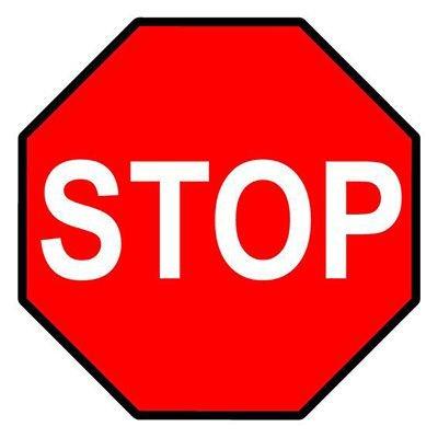 Mighty Line Floor Marking Stop Sign