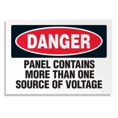 More Than One Voltage Source - Voltage Warning Labels