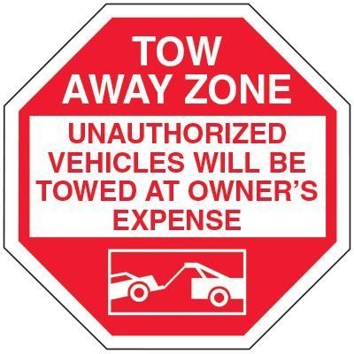 No Parking Tow Away Signs