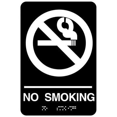 No Smoking Signs - Economy Braille Signs