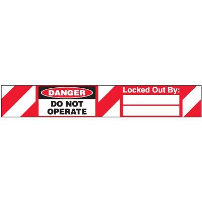 Do Not Operate Padlock Label