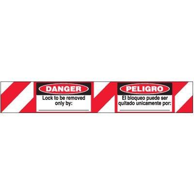 Bilingual Danger Lock-Out Padlock Label