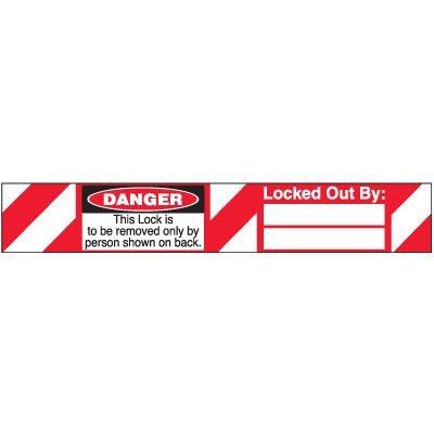 Danger Self-Laminating Padlock Label