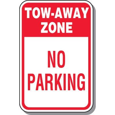 Tow-Away Zone Sign