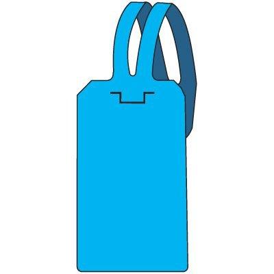 Blank Blue Self-Fastening Tag