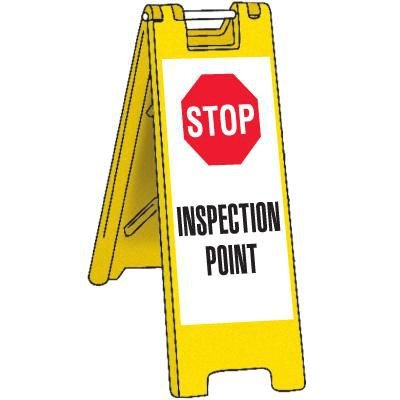 Portable Inspection Point Barricade