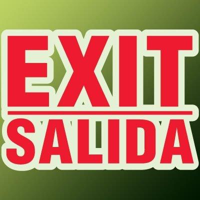 Formed Bilingual Exit Sign