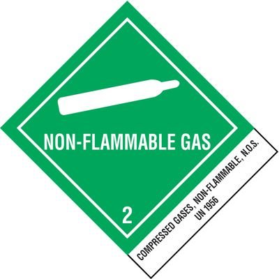 Non-Flammable Gas Shipping Labels