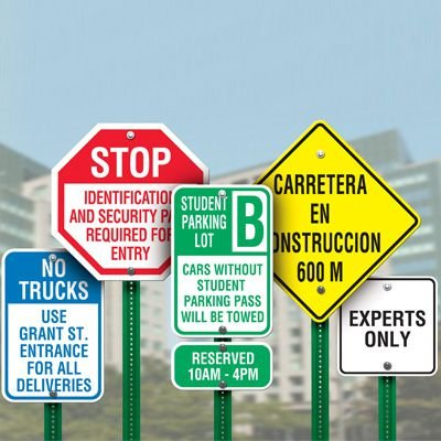 Custom-Worded Traffic and Parking Signs