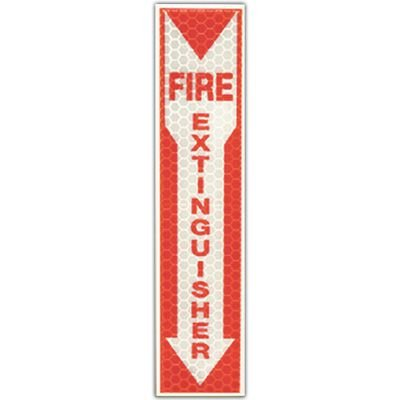 Reflective Glow Fire Extinguisher Sign Cyalume 9-30071