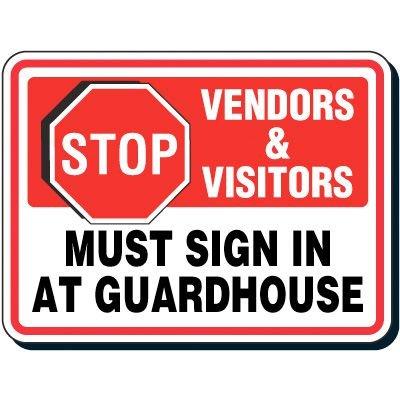 Reflective Parking Lot Signs - Stop Vendors & Visitors