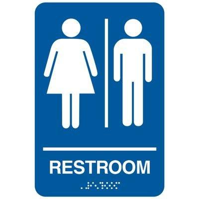 Restroom - California Code Economy Restroom Signs