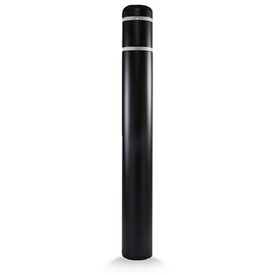 Post Guard CL1386C Black Bollard Cover 7 x 60 White Tape