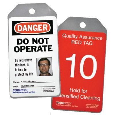 Semi-Custom ToughWash® Encapsulated Plastic Tags