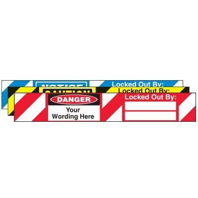 Semi-Custom Self-Laminating Padlock Labels