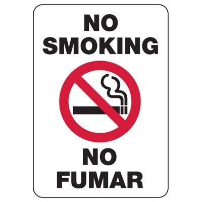 Bilingual No Smoking Sign