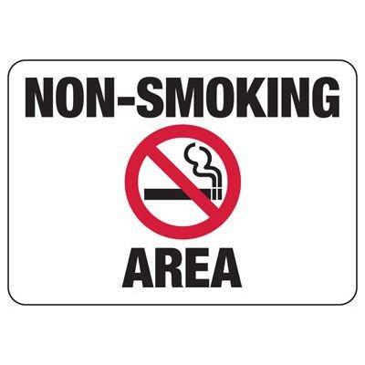 Non-Smoking Area Sign