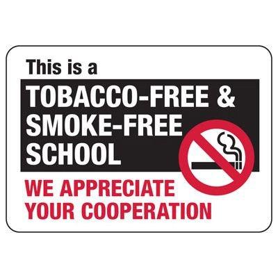 Tobacco-Free School Sign