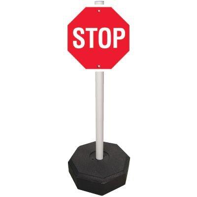 PVC Stop Sign Stanchion System