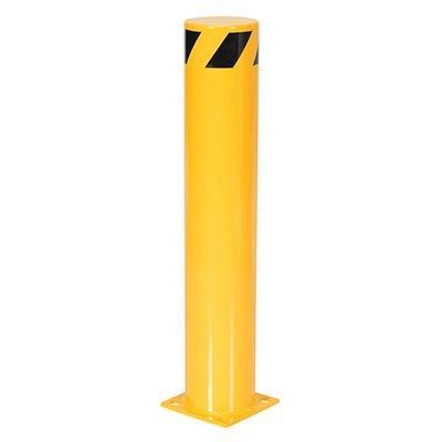 Steel Pipe Safety Bollard 8 Base x 6.5 Dia
