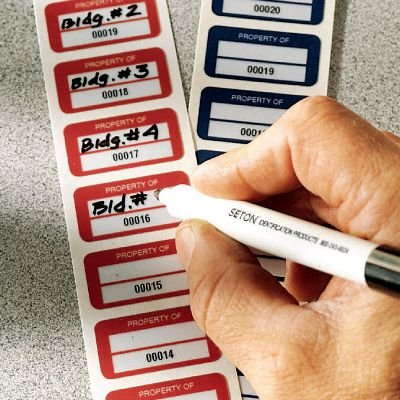 Stock Polyester Asset Labels