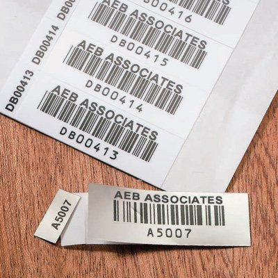 Two-Part Bar Code Labels