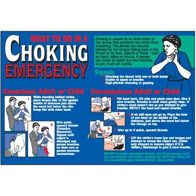 Choking Emergency Wallchart