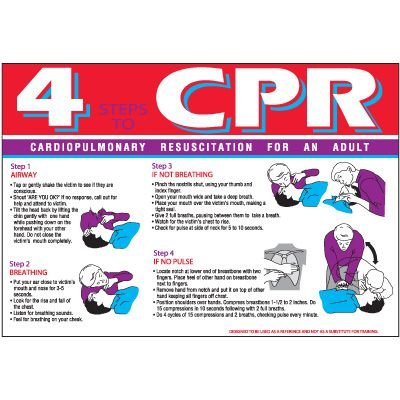 4 Steps To CPR Wallchart