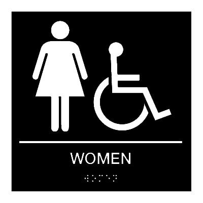 Women (Accessibility) - Braille Restroom Signs