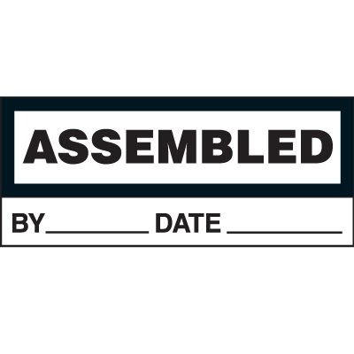 Assembled Status Label