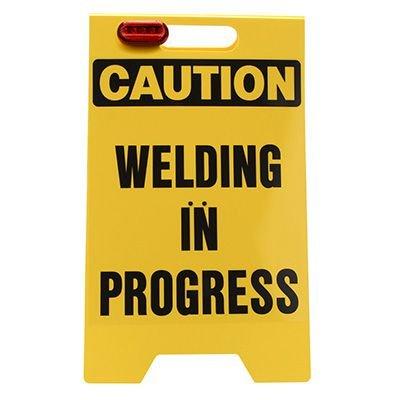 Floor Stand - Caution Welding In Progress