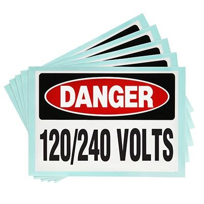 Voltage Warning Labels - Danger 120/240 Volts