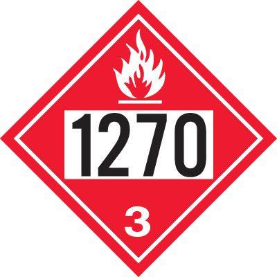 1270 Petroleum Oil - DOT Placards