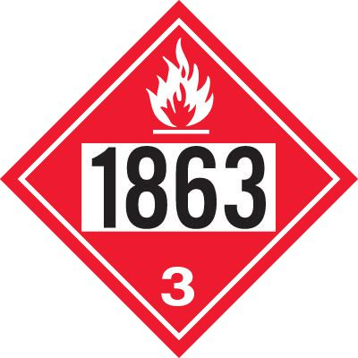 1863 Fuel, Aviation - DOT Placards